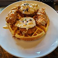 Waffle Benny with Fried Chicken