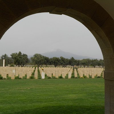 A view of Catania War Cemetery, last resting place of 2135 Commonwealth servicemen.