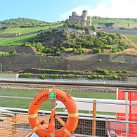Ehrenfels Castle Ruins East Bank of Rhein River just North of Rudesheim.