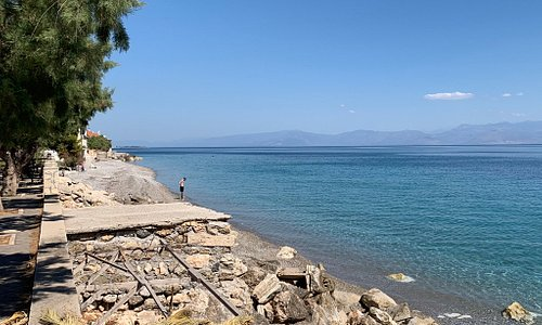 Derveni, town on the north coast of the Peloponnese. No tourists, just beach and township, paradise. Corinthia, Peloponnese Greece #Derveni #Corinthia #Peloponnese #Greece