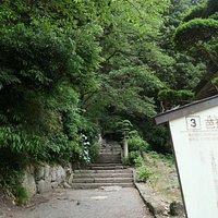 登山口から一番最初に見れる巨大な根本中堂と言う天台宗の道場のすぐ左に松尾芭蕉の句があり、その後方に清和天皇の供養塔である清和天皇御宝塔があります。 境内で一番古い石塔だそうです。