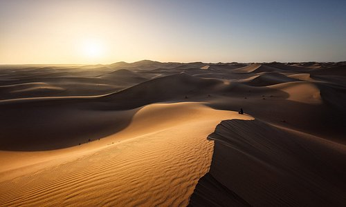 'Desert solitude'at Erg Chigaga by Michael Breitung.  Michael guides our photography tours in Morocco.