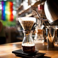 We feature a rotating selection of brewed-to-order coffees from our Apex lineup.