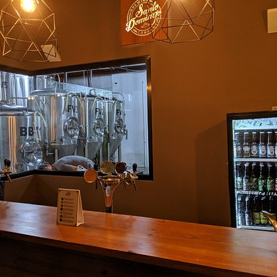 Tap room in the brewery