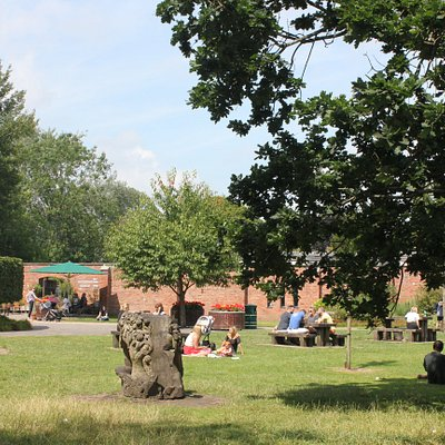 Orchard Lawn, Bute Park. Find the Education Centre, Plant Shop and Secret Garden Café here.