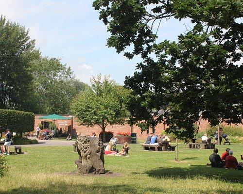 Orchard Lawn, Bute Park. Find the Education Centre, Plant Shop and Secret Garden Café here.