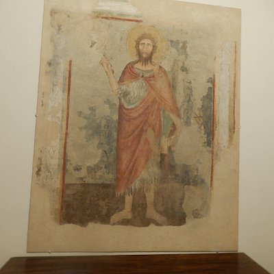 One of the frescoes in the Societa's museum