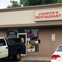 front of & entrance to Juanita's Restaurant