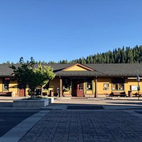 The Welcome Center is located inside the train station on Main Street in Truckee