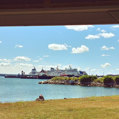 View of North Sydney Ferry Terminal from Indian Beach Park