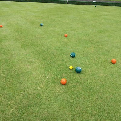 "The ""jack"" is the small yellow target ball.  One player had green balls and one had orange."