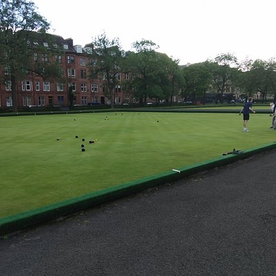 The lawn bowl greens