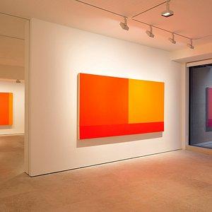 Exhibition Peter Halley & Robert Mangold: Modern I Postmodern