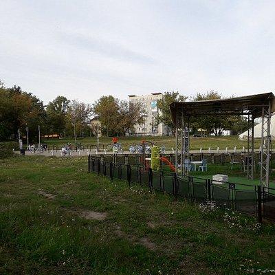 Właściwy park Żeromskiego.