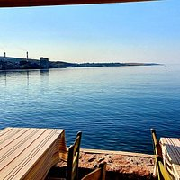 Our view... here the time stops... #refenestavern #mytilene #seafood #lesvos #visitlesvos #tavern #restaurant