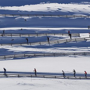 Snow Farm skiers training