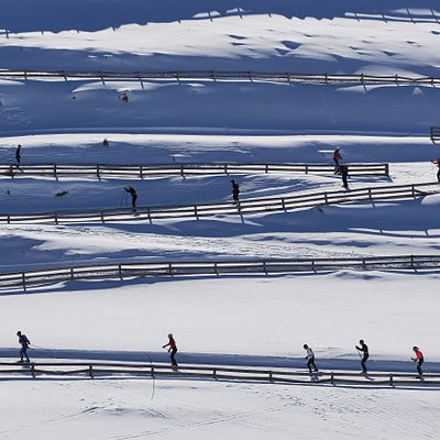 Snow Farm skiers training