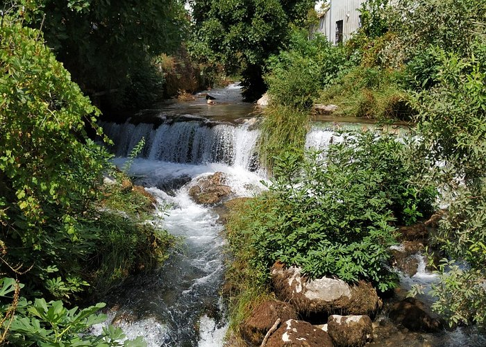 The mill race next to the dining terrace
