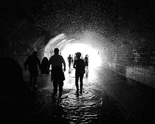 Sheaf & Porters Rivers Trust walk underground towards the Megatron