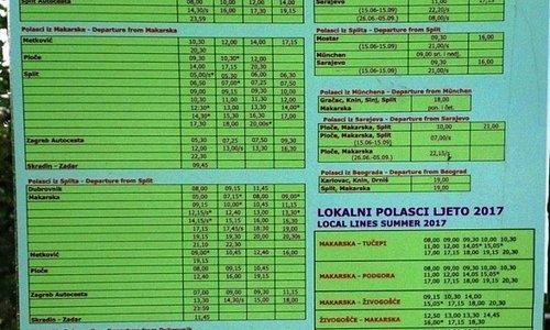 Promet's timetable