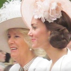 Photo taken of Kate and Camilla by one of the groups f that I took.  They were thrilled to get so close to members of the Royal Family.