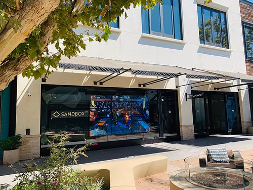 Sandbox VR store exterior in Los Angeles (The Village at Westfield Topanga).
