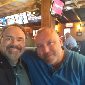 At Malones tavern in Detroit with my buddy Giancarlo.