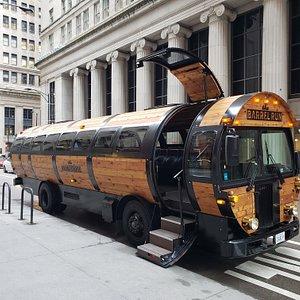 Our new 36 passenger Barrel Bus
