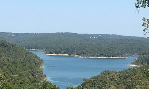 This is the view from Elizabeth AR overlooking on of the many bends in this massive lake system.
