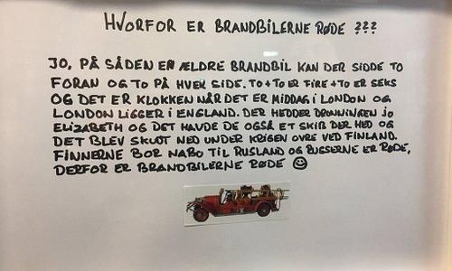 En sjov forklaring på hvorfor brandbiler er røde🤣