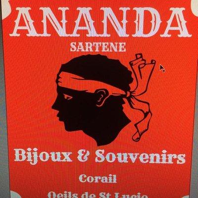 Panneau de la boutique Ananda Sartène
