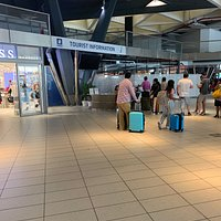 Information booth inside the terminal.