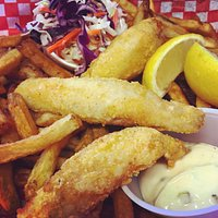 Delicious Local Lake Erie Perch, Dredged in our Special Coating by Hand