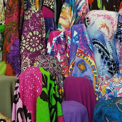 An amazing selection of all types of fabrics.
