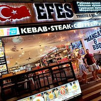 Most delicious kebabs, barbecue,  steaks,  burgers,  seafood,  vegetarian food at Efes!