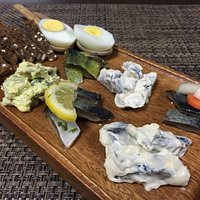 Our big herring platter with six kinds of our own marinated herring.