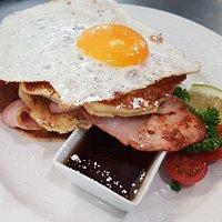 Bacon and Egg pancakes