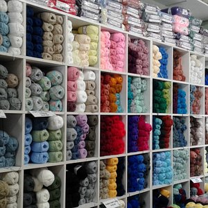 A good selection of yarn