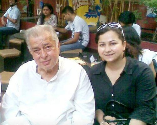 I with Late .Mr.Shashi Kapoor sir,I went to Prithvi Theater for a show This pic is after the show when I met him .He was a very generous man .