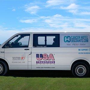 USA Transfers, voted #1 Transportation Company in Cancun & Riviera Maya.