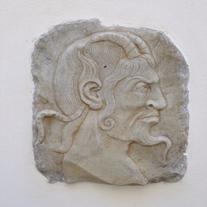 One of the many sculptures on display in the palazzo.