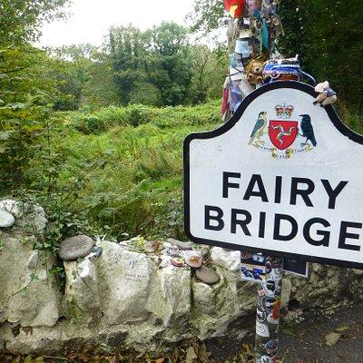 Road sign on bridge