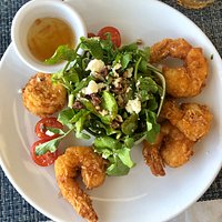 Coconut shrimp and Mona Lisa salad.  We had the shrimp every time we went.