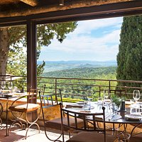 Osteria La Canonica View over Montalcino and the Val d'Orcia