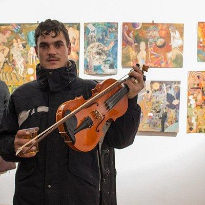 During the exhibition Furak Pop-Laszlo - Into the void