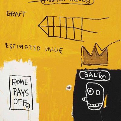 """Rome Pays Off"" by Jean-Michel Basquiat, photo courtesy Taglialatella Gallery"