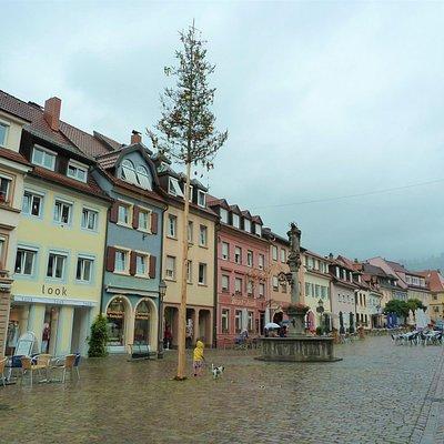 Mariabrunnen i Historische Altstadt i Waldkirch