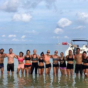 Beach WOD with coach Neus