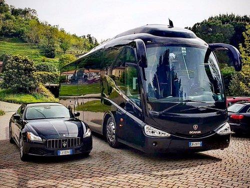 bus and maserati