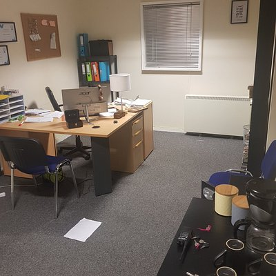 Our first escape room  which was a office based theme